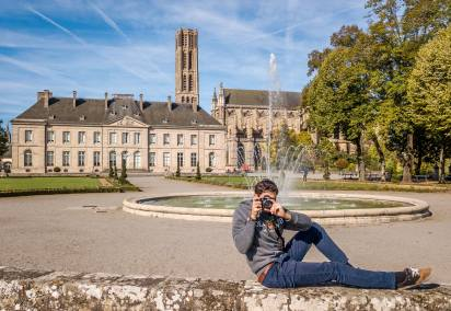 Me in the Evêché park in Limoges