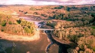 The lake of Saint Pardoux (Limousin)